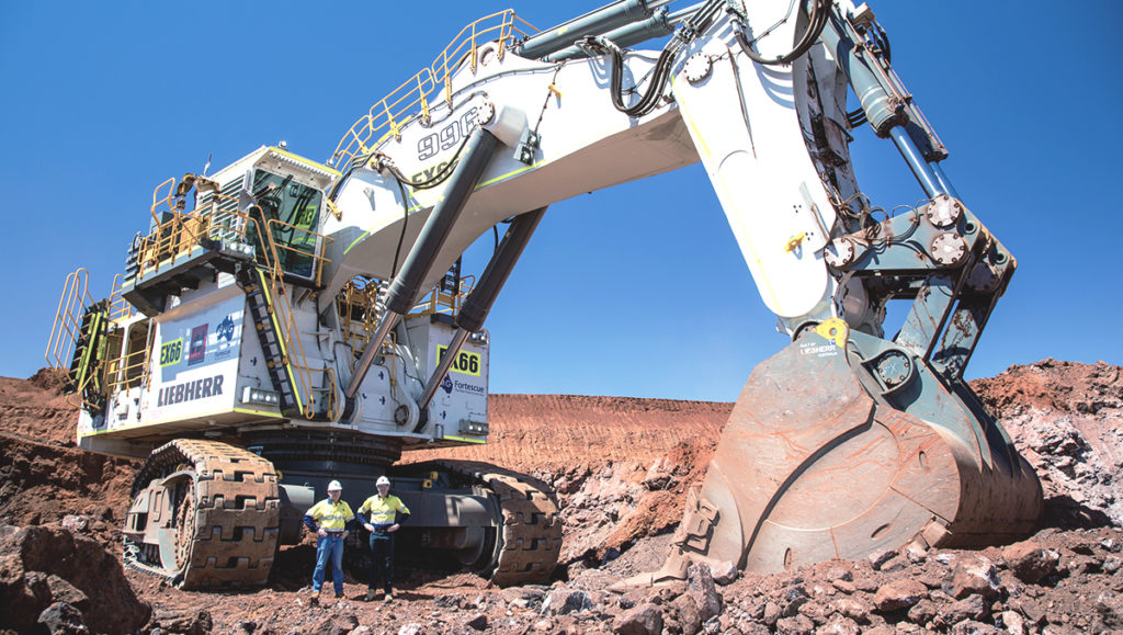 National Plant and Equipment and FMG Fortescue Metals Leibherr 996 Excavator